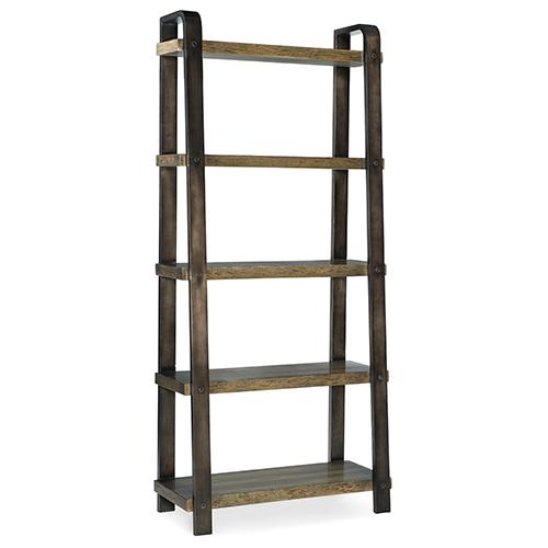 Crafted Dark Wood Ladder Bookcase
