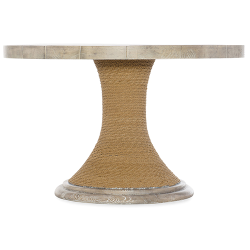Hooker Furniture Amani Light Wood 48 In. Round Pedestal Dining Table