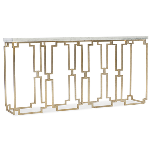 Evermore Gold Console Table