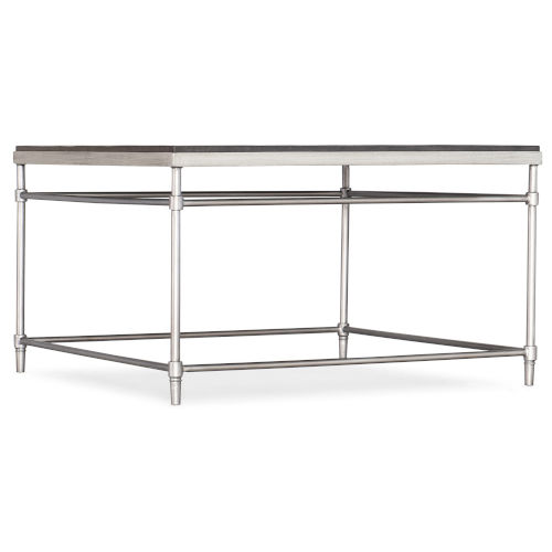 St. Armand Black and Brushed Petwer Square Cocktail Table