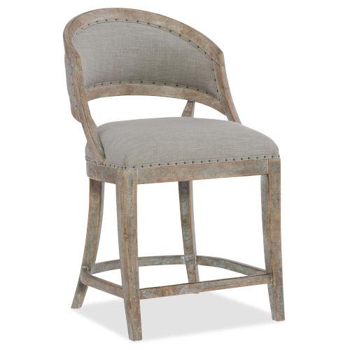 Magnificent Hooker Furniture Boheme Gray 39 Inch Barrel Back Bar Stool Machost Co Dining Chair Design Ideas Machostcouk