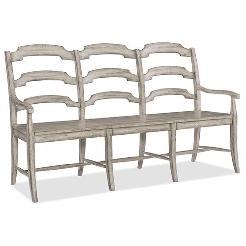 Hooker Furniture Boheme Du Monde Beige Ladderback Dining Bench