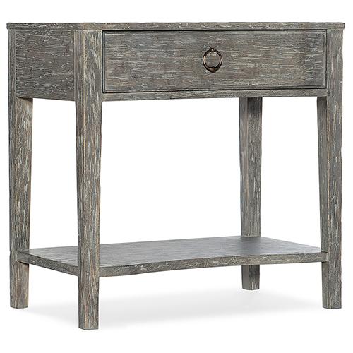 Beaumont Gray One-Drawer Nightstand