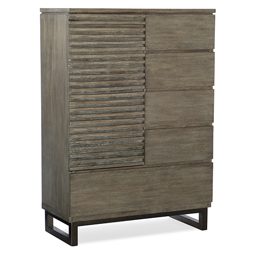Annex Gray Door and Drawer Asymmetrical Chest