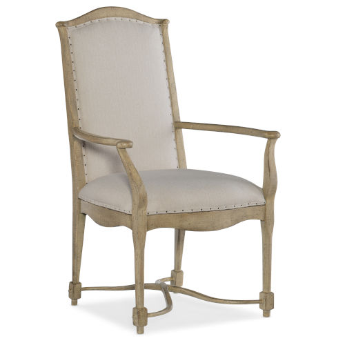 Ciao Bella Light Wood 43-Inch Upholstered Back Arm Chair