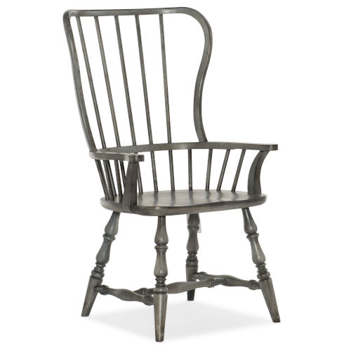 Ciao Bella Gray 43-Inch Spindle Back Arm Chair