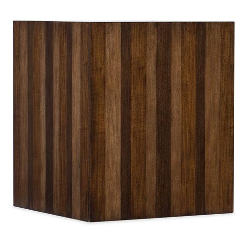 Dark Wood Across the Grain End Table