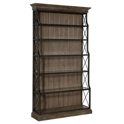 Woodlands Medium Wood 50-Inch Etagere
