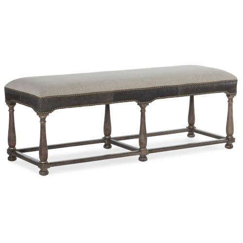 Woodlands Medium Wood 55-Inch Bed Bench