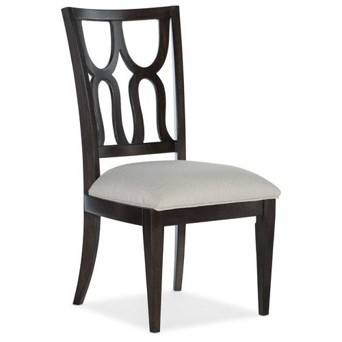 Curvee Dark Wood Side Chair