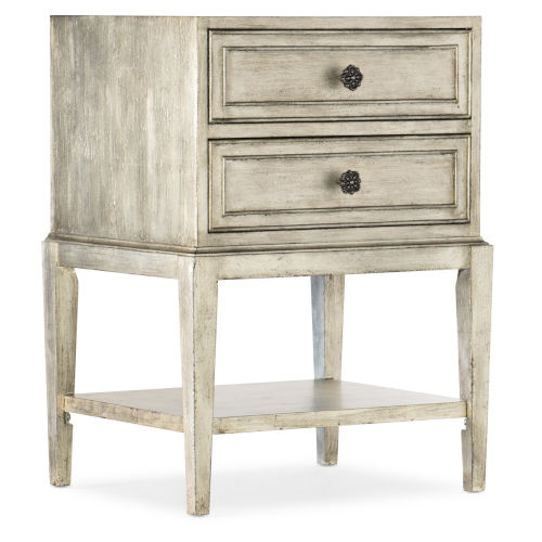 Sanctuary Champagne 22-Inch Two-Drawer Nightstand