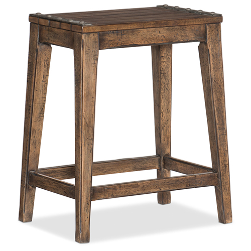 Hill Country Medina Lake Brown Backless Counter Stool