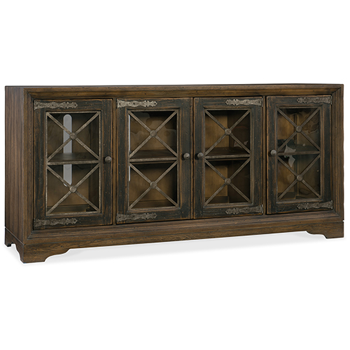 Hill Country Pipe Creek Bunching Brown Media Console