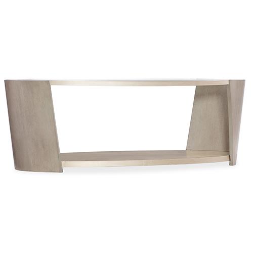 Hooker Furniture Elixir Beige Oval Cocktail Table