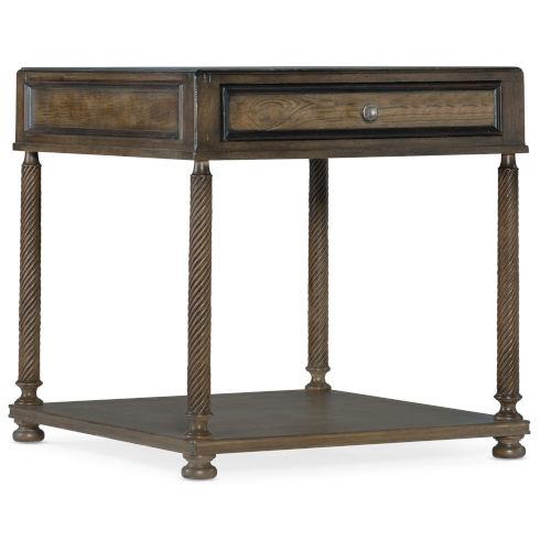 Vera Cruz Russet Brown Rectangle End Table
