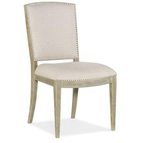 Surfrider Natural Carved Back Side Chair