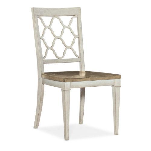 Montebello Danish White and Carob Brown Side Chair