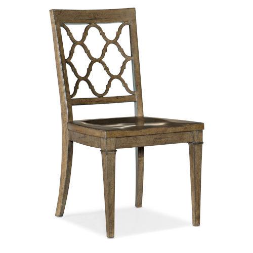 Montebello Carob Brown Side Chair