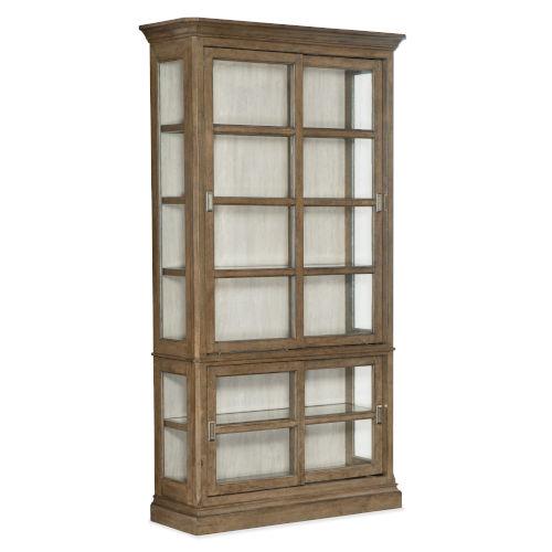 Montebello Carob Brown Display Cabinet