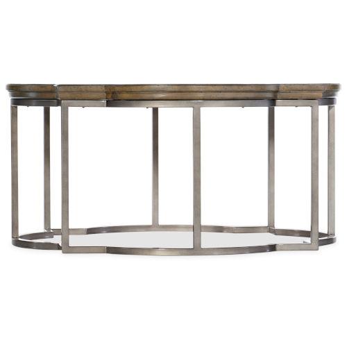 Montebello Carob Brown Round Cocktail Table