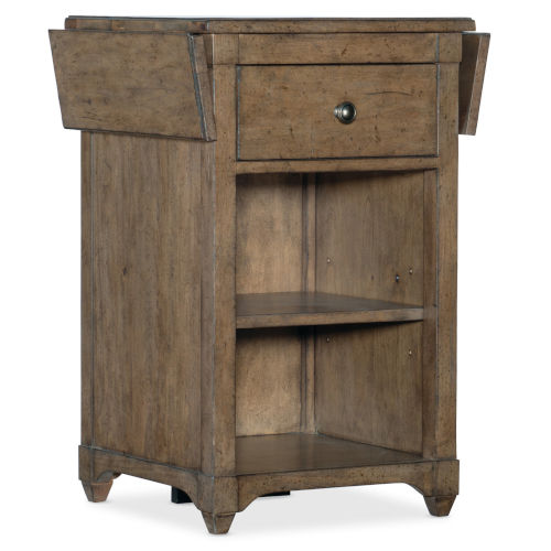 Montebello Carob Brown Nightstand Accent Table