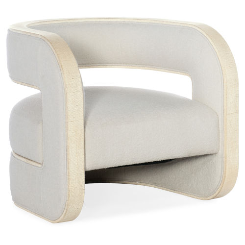 Cascade Lacquered Burlap Accent Chair