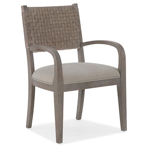 Miramar Carmel Gray Artemis Woven Arm Chair