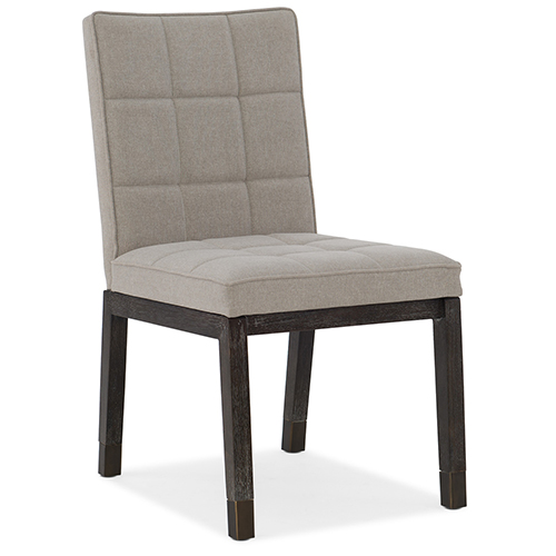 Miramar Aventura Dark Wood Cupertino Upholstered Side Chair