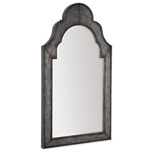 Melange Gray Adonia Floor Mirror with Jewelry Storage