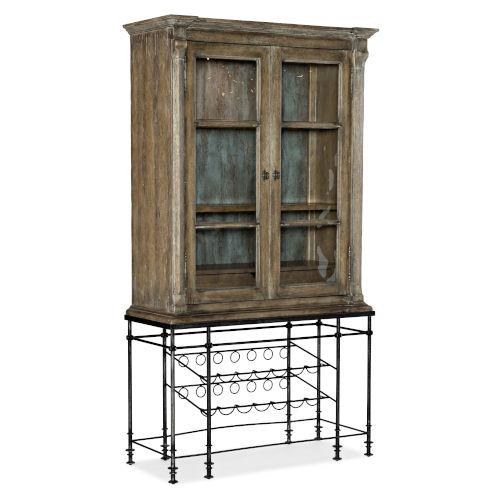 La Grange Blue Bar Cabinet