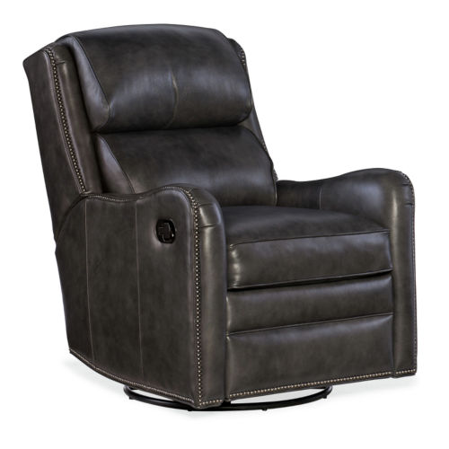 Henley Charcoal 30-Inch Manual Wall-Hugger Recliner