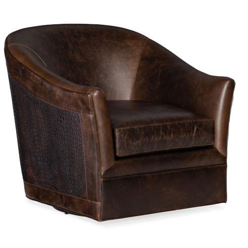 Morrison Brown Swivel Club Chair