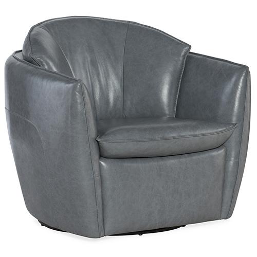 Vogue Vintage Dark Gray Swivel Chair