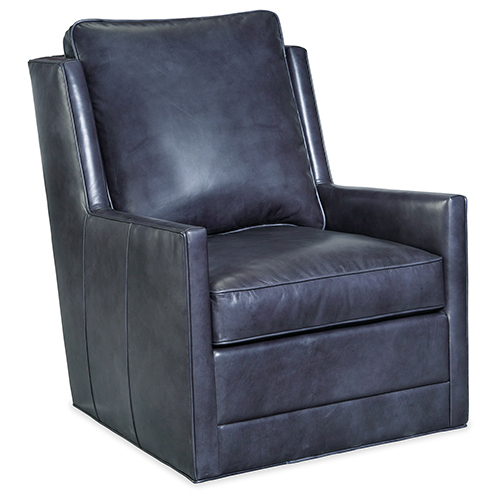 Keever Blue Swivel Chair