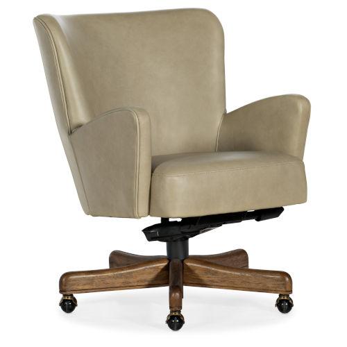 Eva Medium Wood with Beige Executive Swivel Tilt Chair