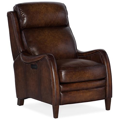 Hooker Furniture Stark Brown Power Recliner with Power Headrest