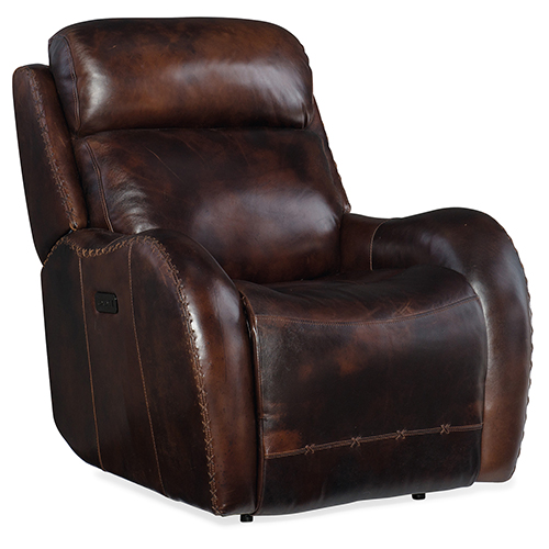 Hooker Furniture Chambers Brown Power Recliner with Power Headrest