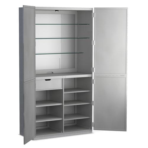 Hooker Furniture Alchemist Silver Bar Cabinet