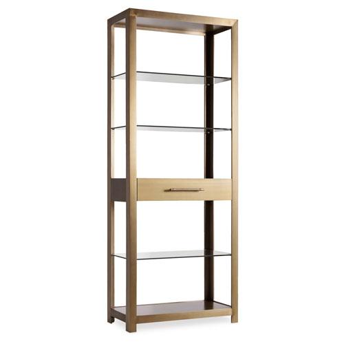 Hooker Furniture Curata Gold Bunching Bookcase