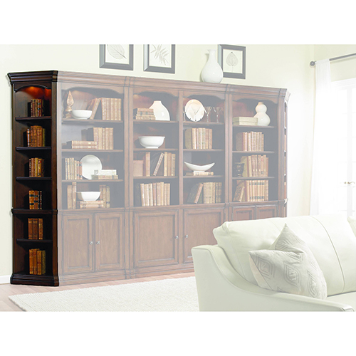 Hooker Furniture Cherry Creek Wall End Bookcase L/R