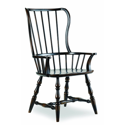 Hooker Furniture Sanctuary Spindle Arm Chair-Ebony