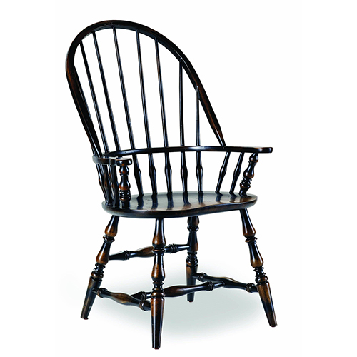 Hooker Furniture Sanctuary Windsor Arm Chair-Ebony