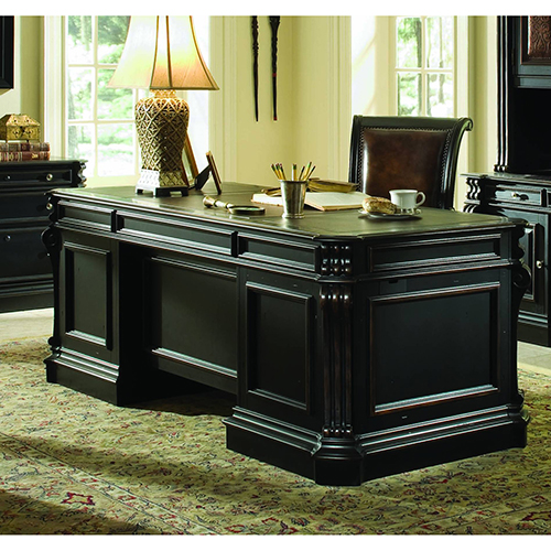 Telluride 76-Inch Executive Desk with Wood Panels