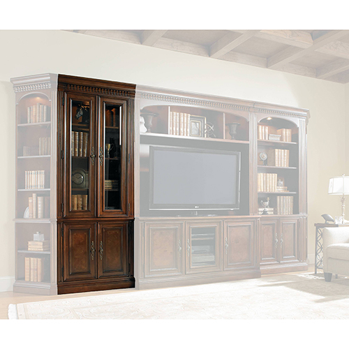 Hooker Furniture European Renaissance II Glass Door Bookcase