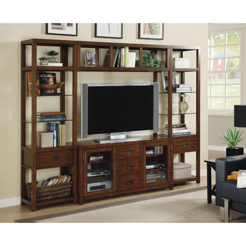 Craftsman Home 62 Media Console: Home Styles Furniture Modern Craftsman Oak Three Piece