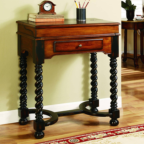 Hooker Furniture Jacobean Twist Leg Flip Top Writing Desk