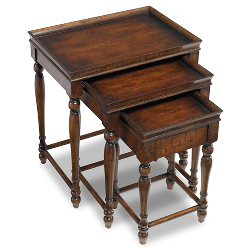 Hooker Furniture Nest of 3 Tables in Dark Wood