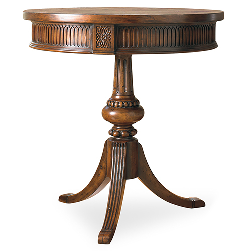 Round Pedestal Accent Table