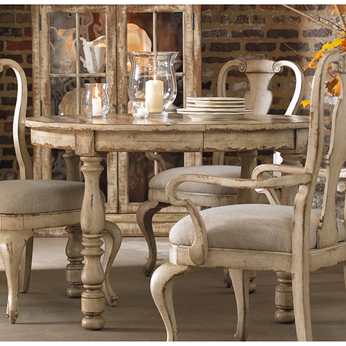 Wakefield Round Leg Dining Table with1-21-Inch leaf
