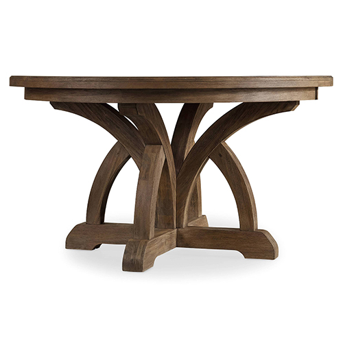 Corsica Round Dining Table with 1- 18-Inch Leaf